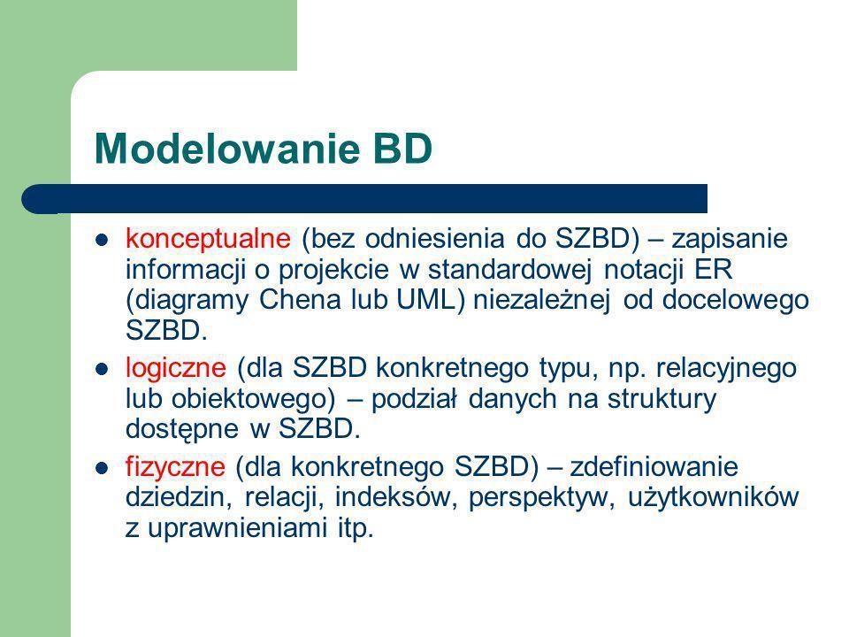 Modelowanie BD