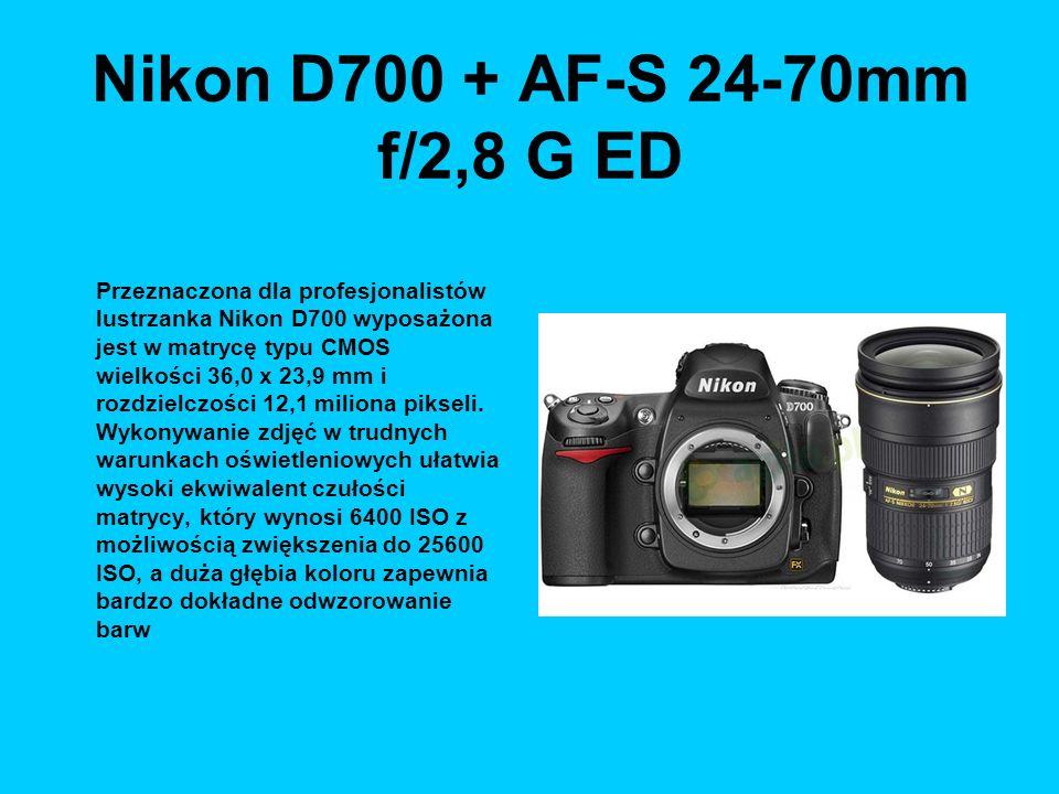Nikon D700 + AF-S 24-70mm f/2,8 G ED