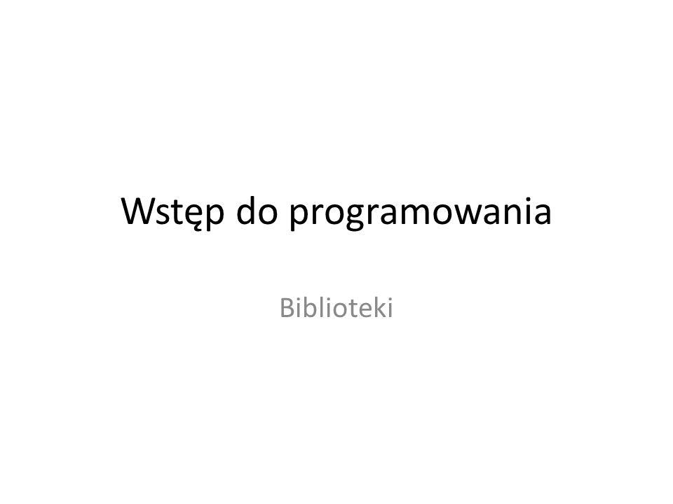 Wstęp do programowania