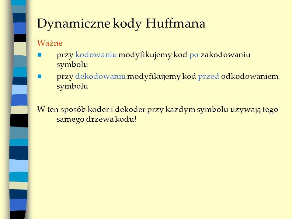 Dynamiczne kody Huffmana