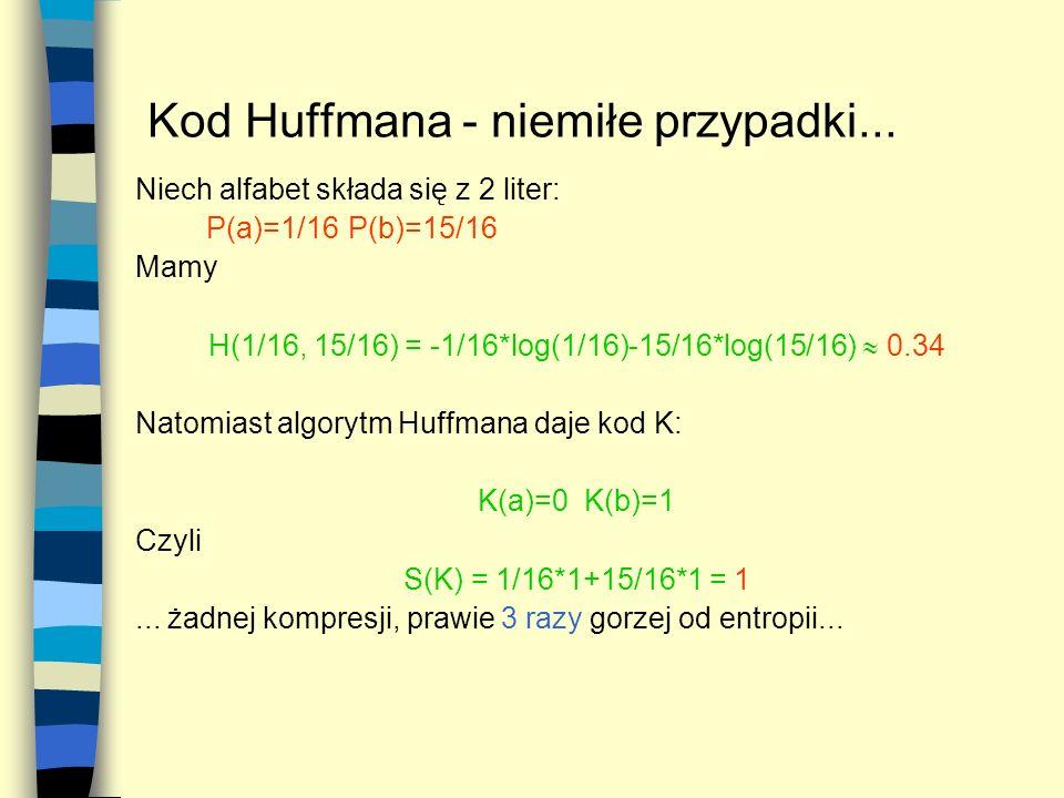 Kod Huffmana - niemiłe przypadki...