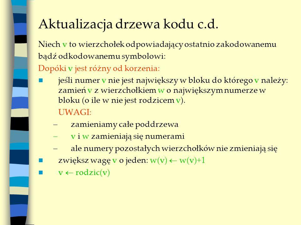 Aktualizacja drzewa kodu c.d.