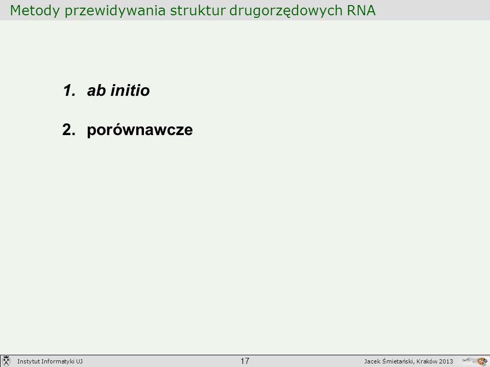 Metody przewidywania struktur drugorzędowych RNA