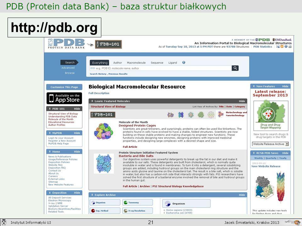 PDB (Protein data Bank) – baza struktur białkowych