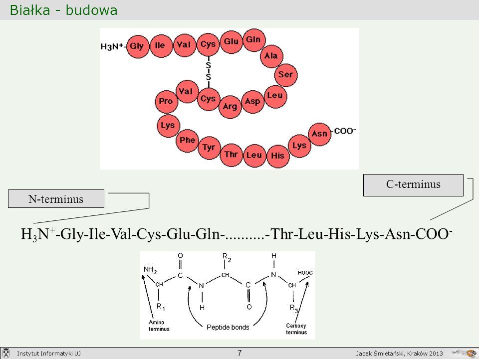 H3N+-Gly-Ile-Val-Cys-Glu-Gln-..........-Thr-Leu-His-Lys-Asn-COO-