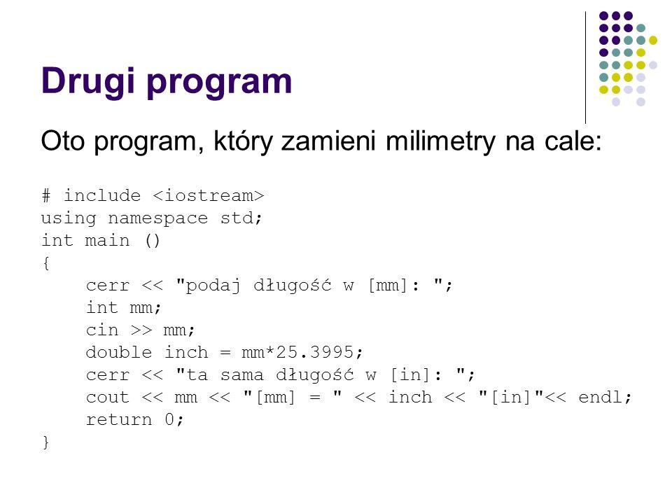 Drugi program Oto program, który zamieni milimetry na cale: