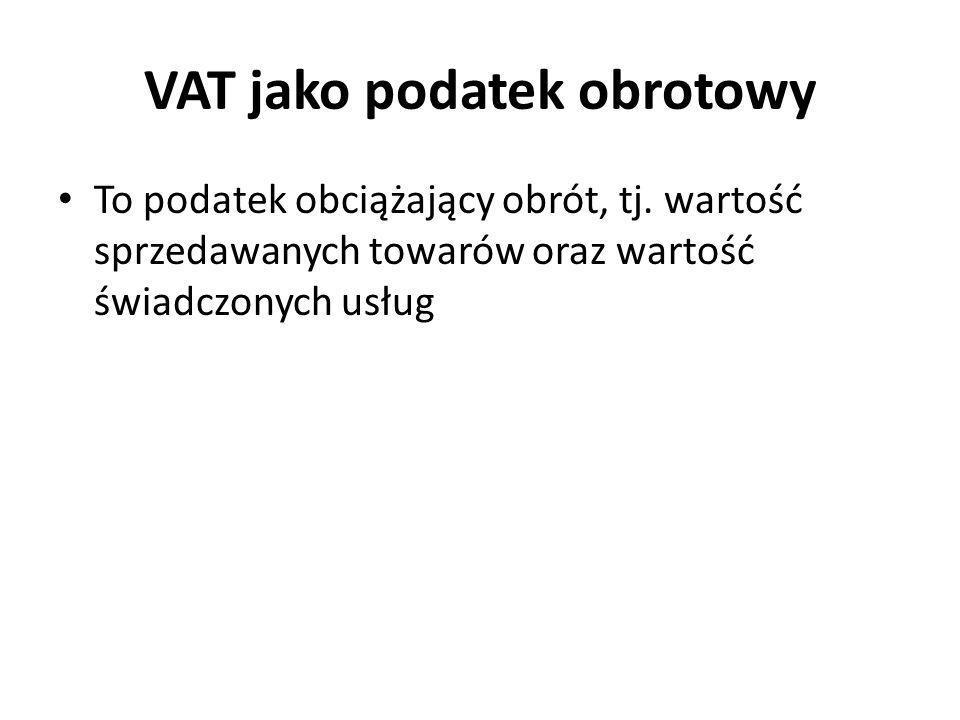 VAT jako podatek obrotowy