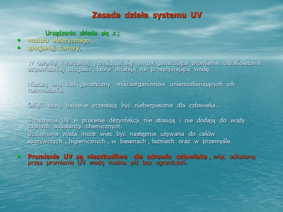 Zasada działa systemu UV