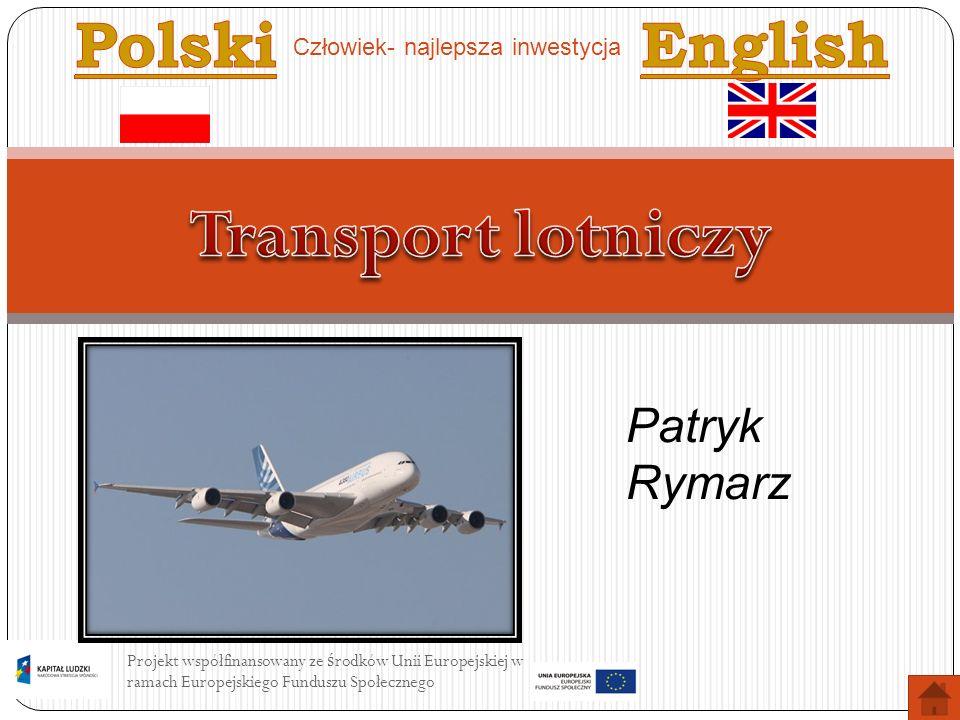 Transport lotniczy Polski English Patryk Rymarz