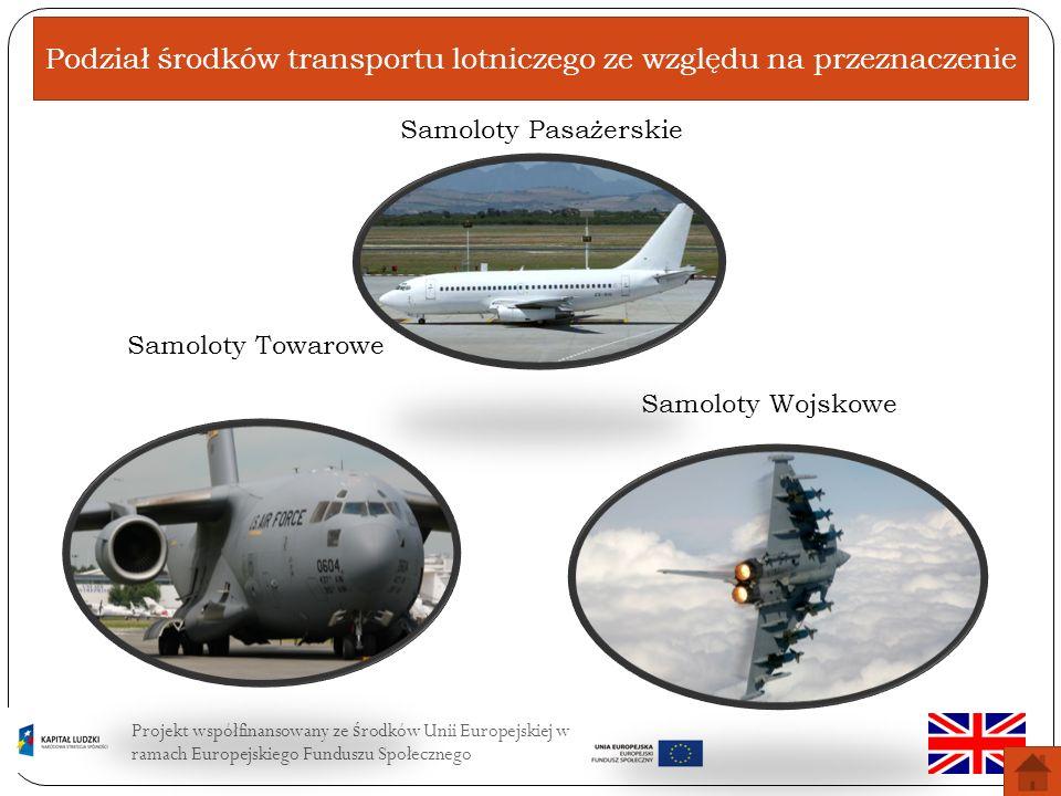 Podział środków transportu lotniczego ze względu na przeznaczenie