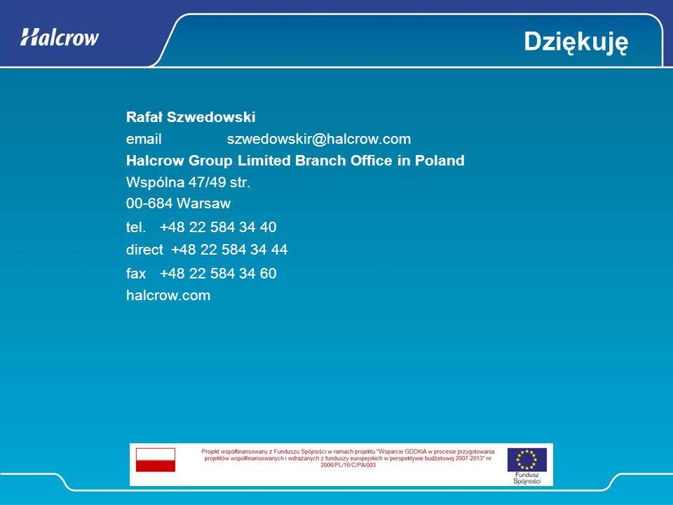 Dziękuję Rafał Szwedowski email szwedowskir@halcrow.com