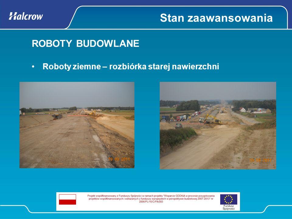 Stan zaawansowania ROBOTY BUDOWLANE