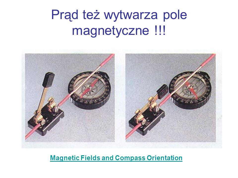 Prąd też wytwarza pole magnetyczne !!!