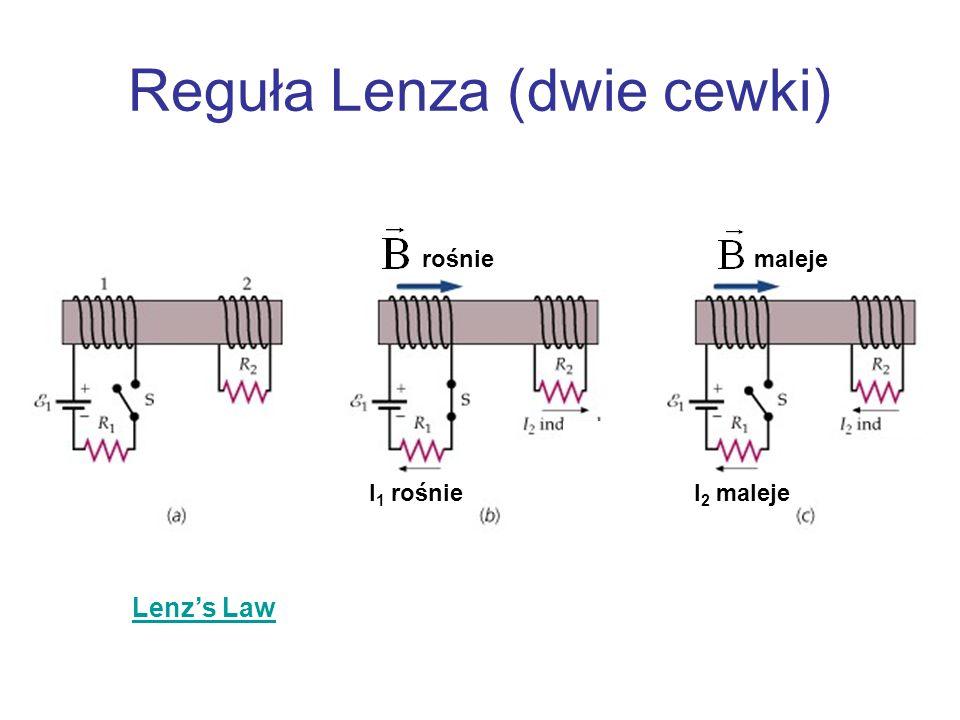 Reguła Lenza (dwie cewki)