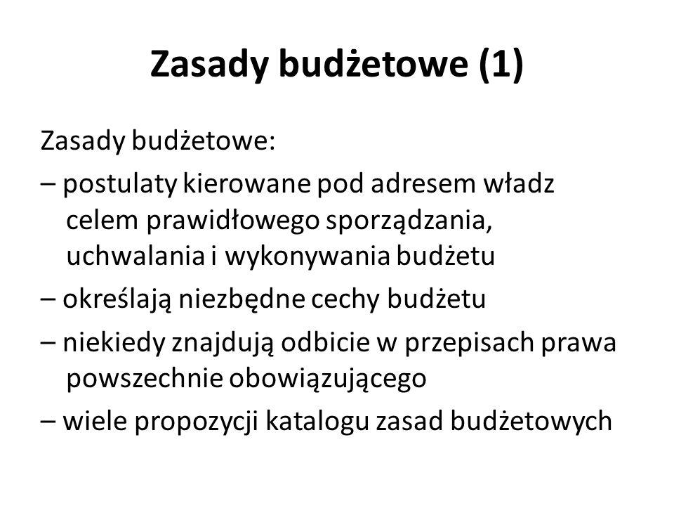 Zasady budżetowe (1)