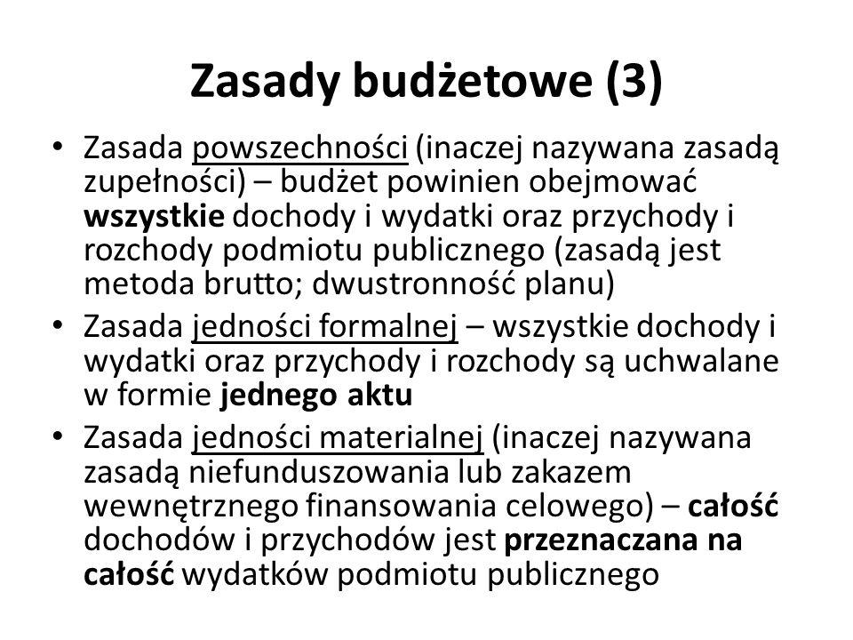 Zasady budżetowe (3)