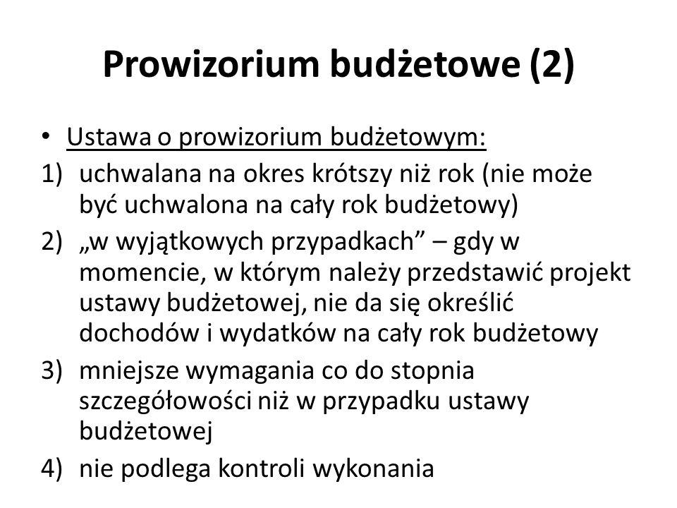 Prowizorium budżetowe (2)