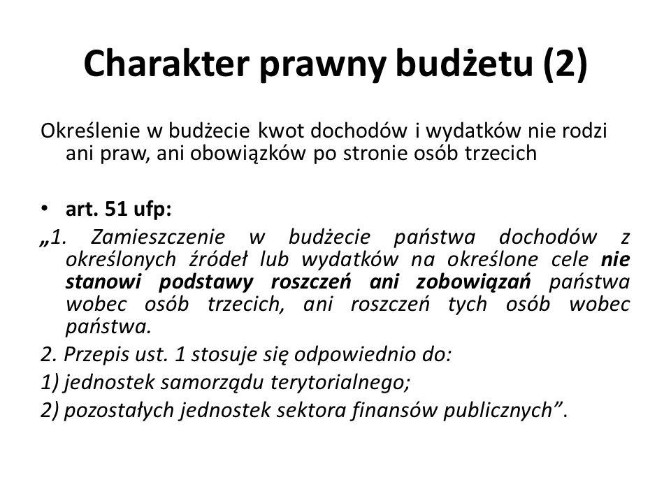 Charakter prawny budżetu (2)