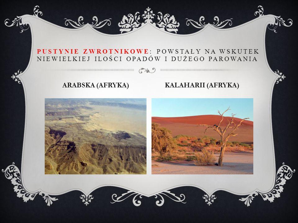 ARABSKA (AFRYKA) KALAHARII (AFRYKA)