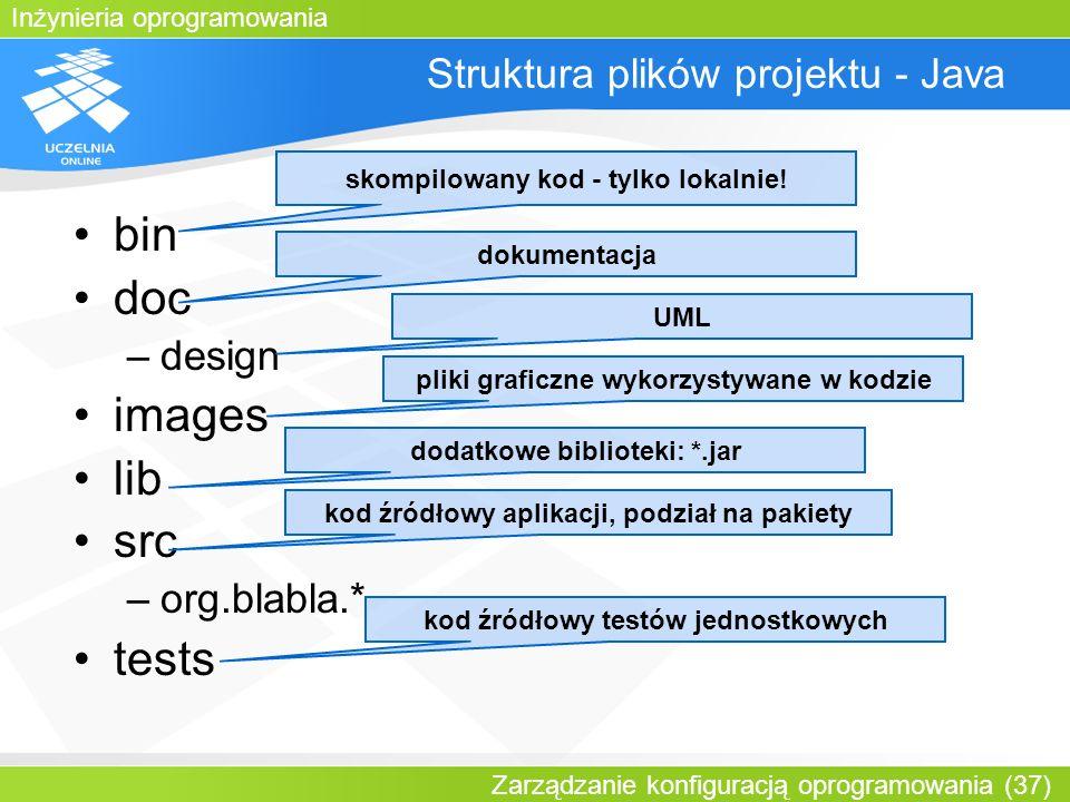Struktura plików projektu - Java