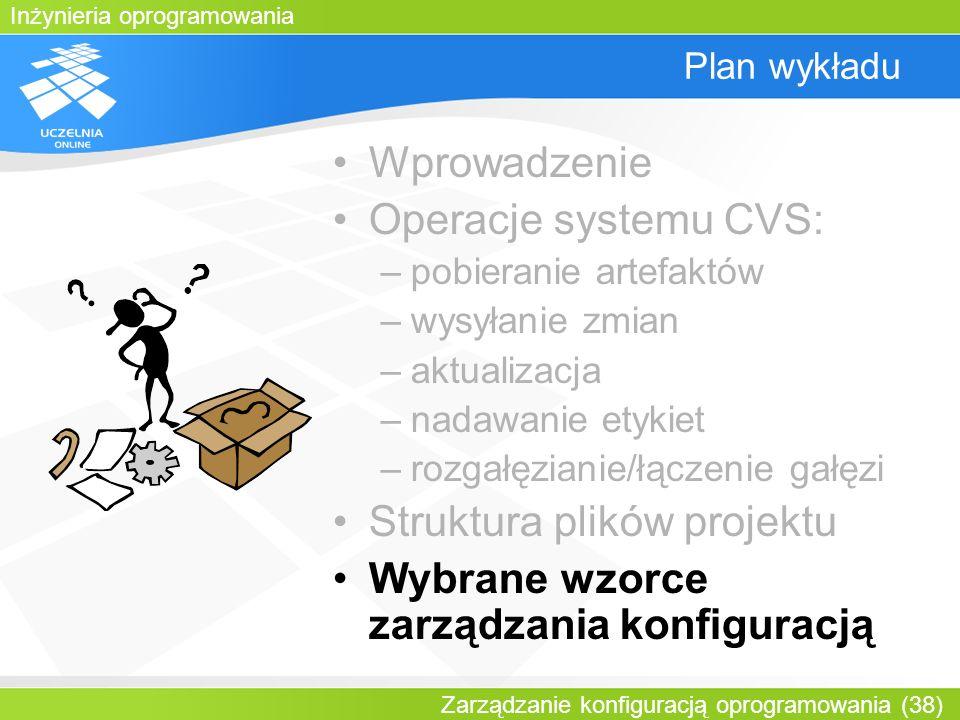 Struktura plików projektu Wybrane wzorce zarządzania konfiguracją