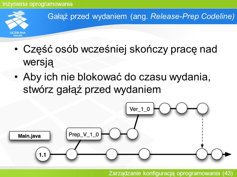 Gałąź przed wydaniem (ang. Release-Prep Codeline)