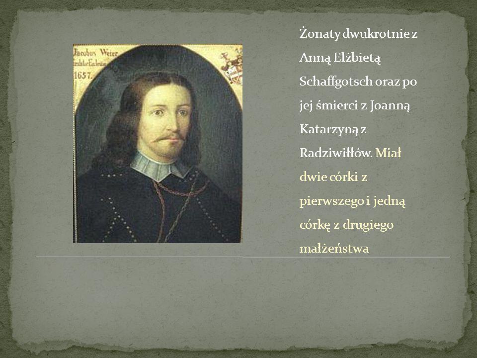Żonaty dwukrotnie z Anną Elżbietą Schaffgotsch oraz po jej śmierci z Joanną Katarzyną z Radziwiłłów.