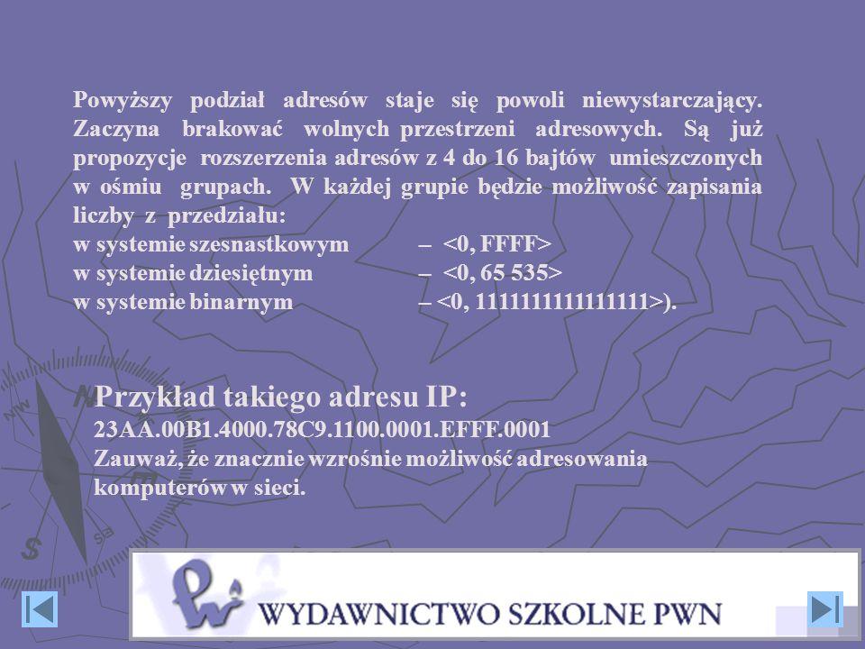 Przykład takiego adresu IP:
