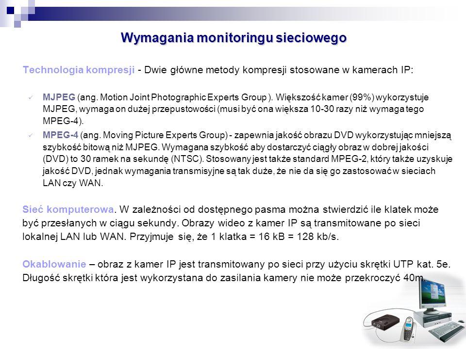 Wymagania monitoringu sieciowego