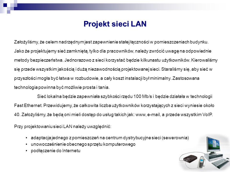 Projekt sieci LAN