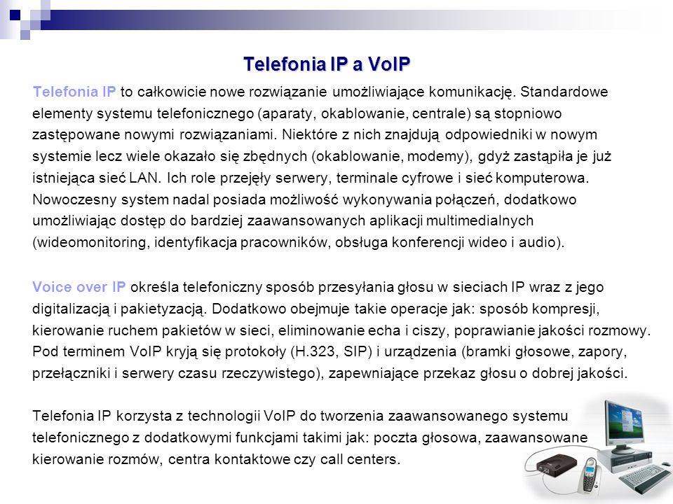 Telefonia IP a VoIP