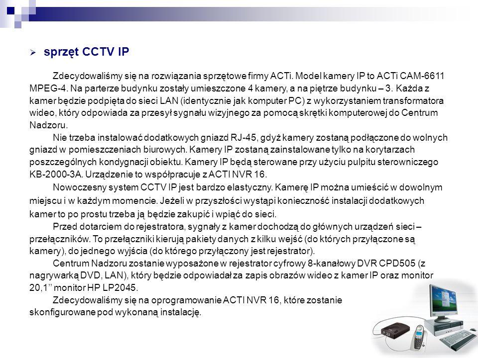 sprzęt CCTV IP