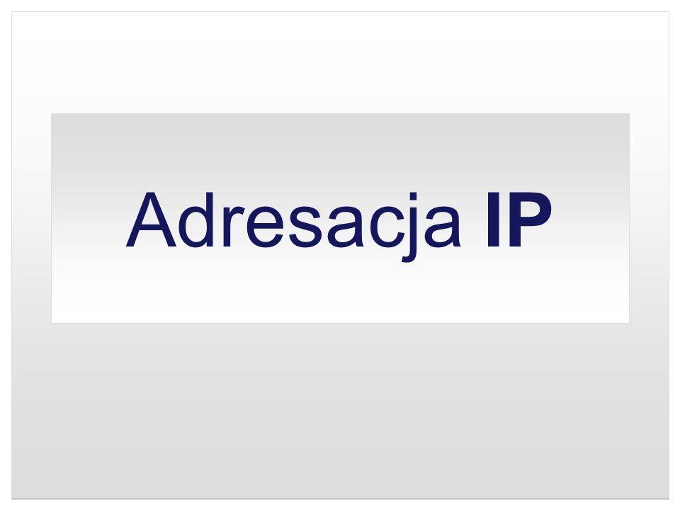 Adresacja IP