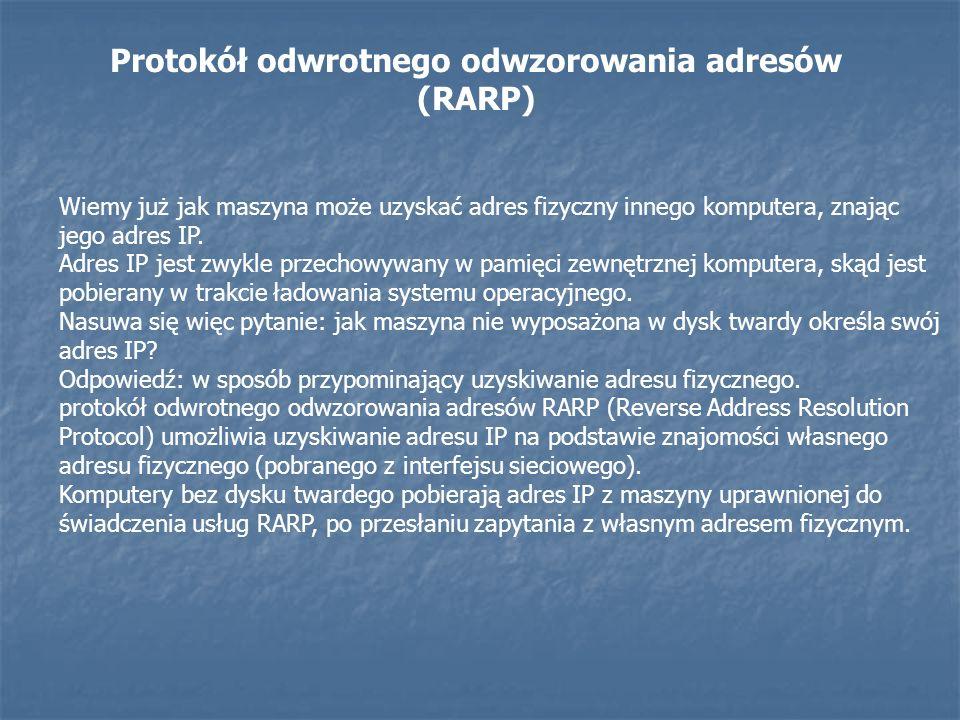 Protokół odwrotnego odwzorowania adresów (RARP)