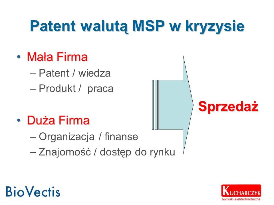 Patent walutą MSP w kryzysie