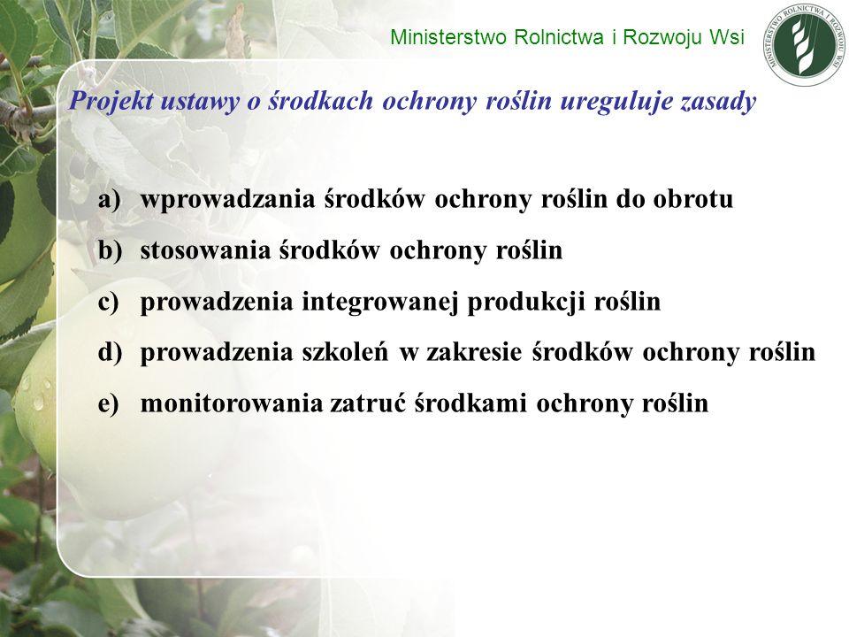 Projekt ustawy o środkach ochrony roślin ureguluje zasady