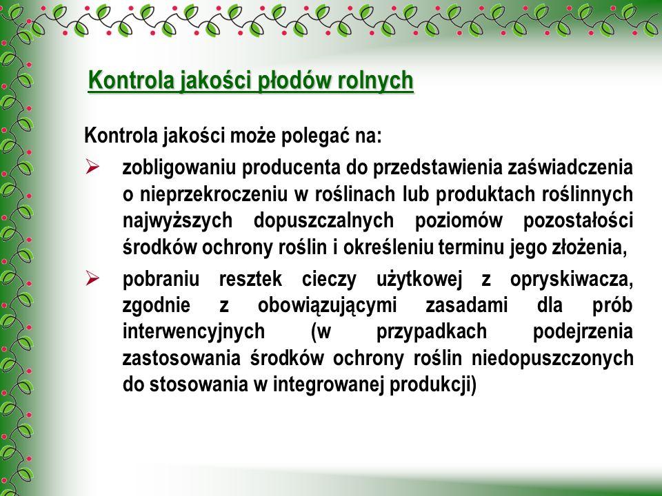 Kontrola jakości płodów rolnych