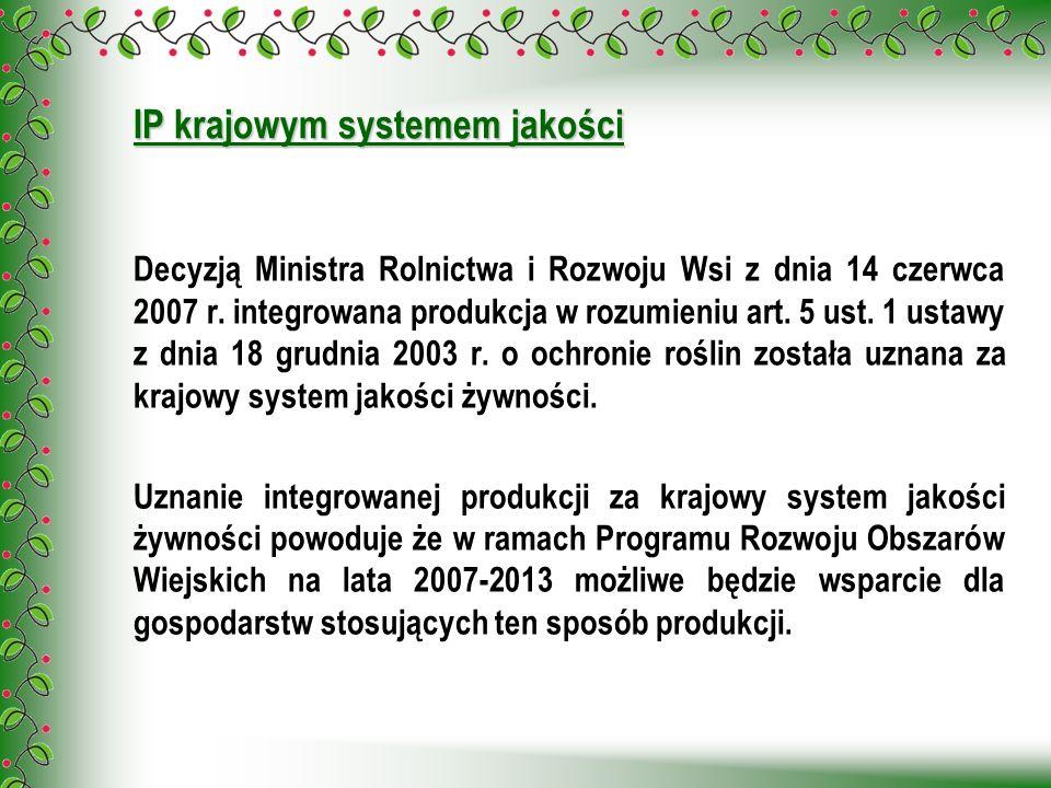 IP krajowym systemem jakości