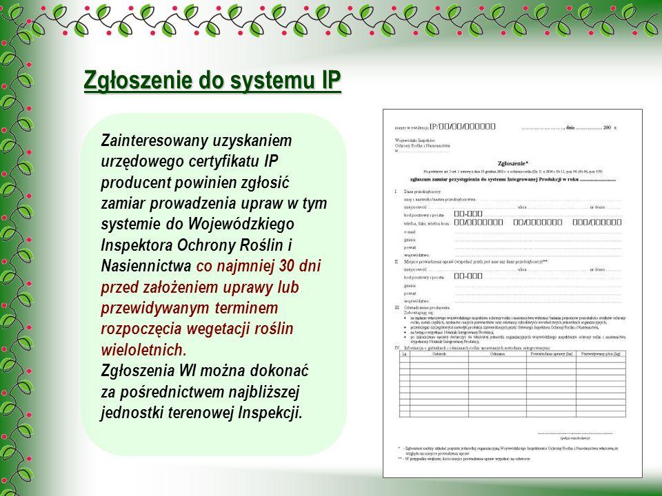 Zgłoszenie do systemu IP