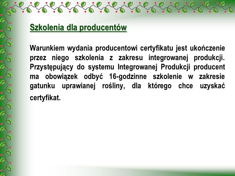 Szkolenia dla producentów