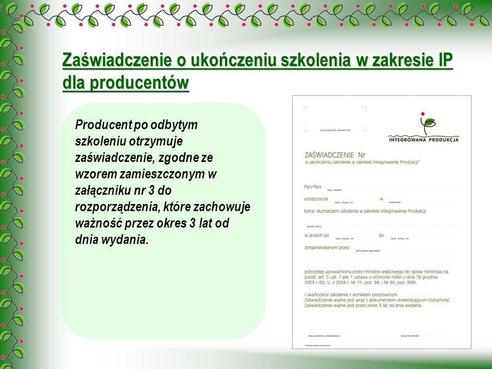 Zaświadczenie o ukończeniu szkolenia w zakresie IP dla producentów