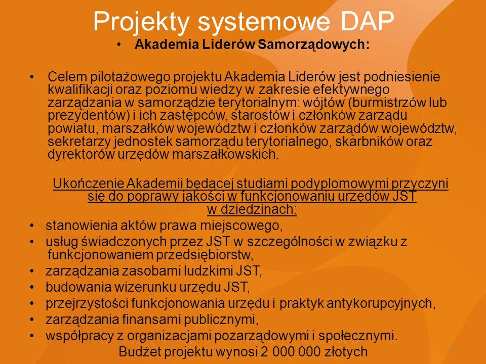 Projekty systemowe DAP