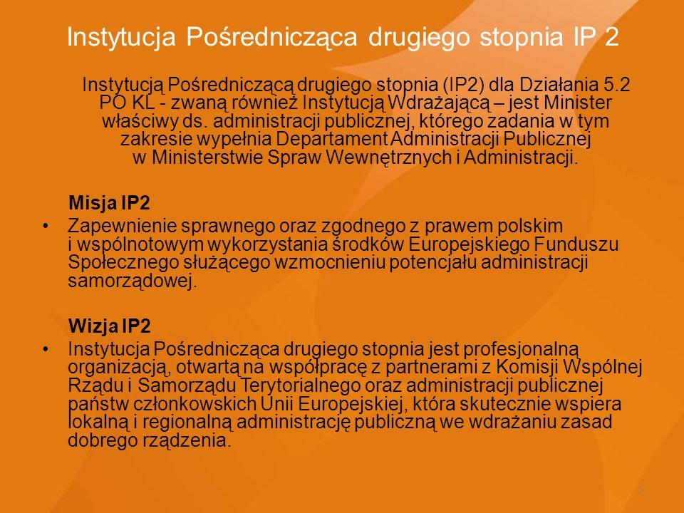 Instytucja Pośrednicząca drugiego stopnia IP 2