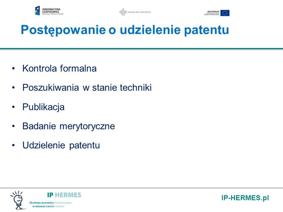 Postępowanie o udzielenie patentu