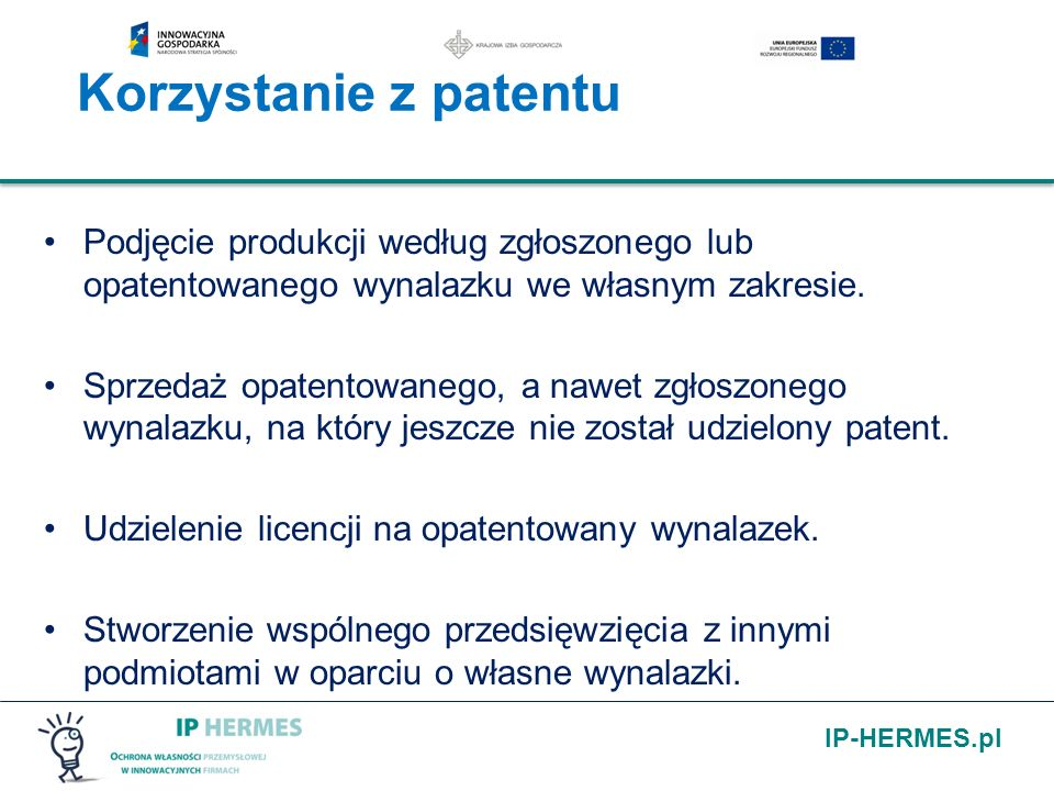 Korzystanie z patentu