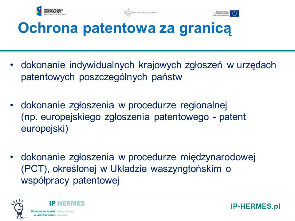Ochrona patentowa za granicą