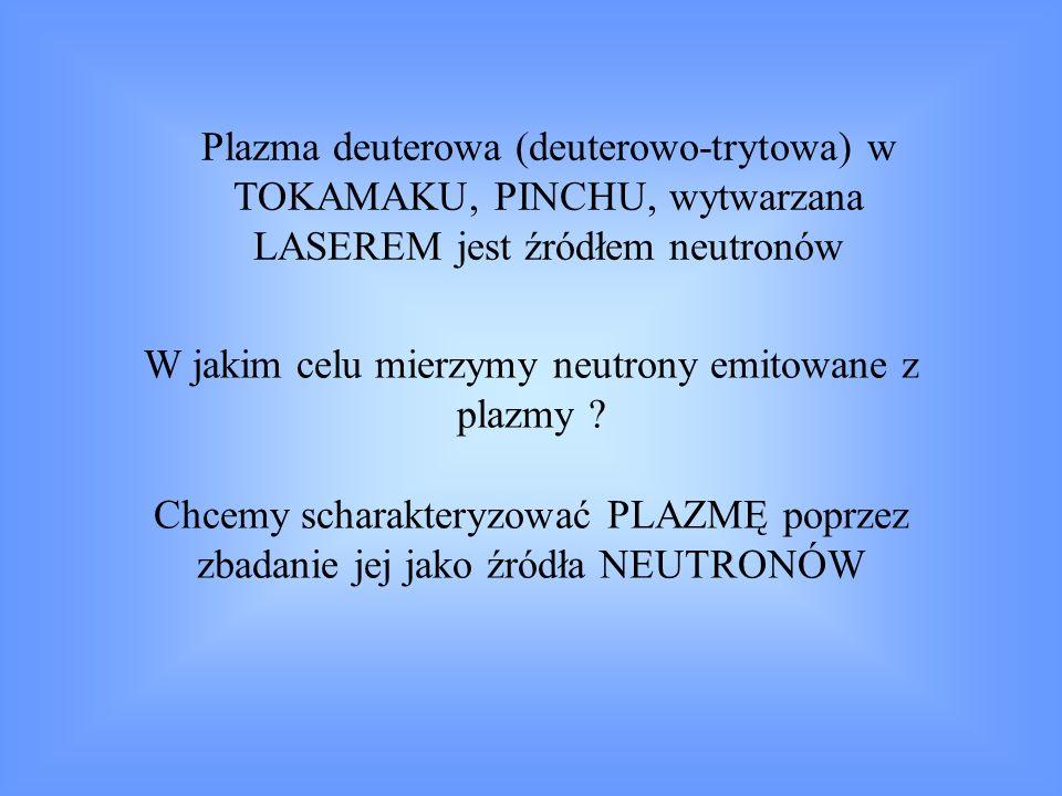 W jakim celu mierzymy neutrony emitowane z plazmy