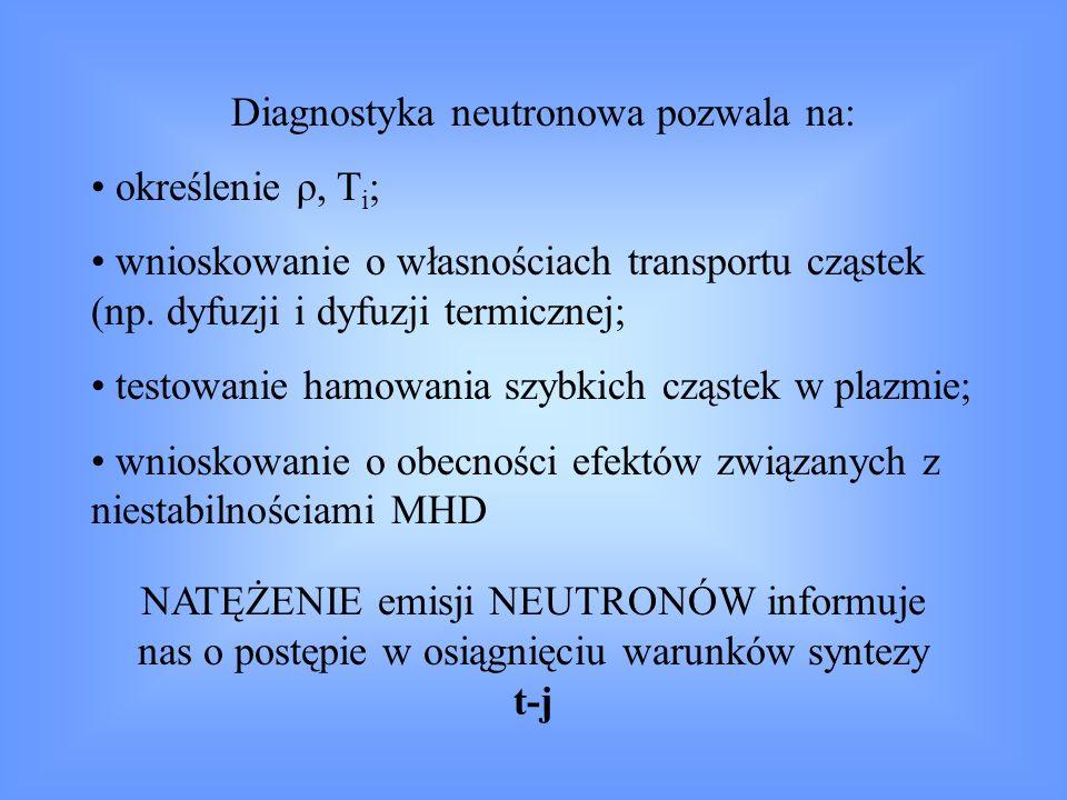 Diagnostyka neutronowa pozwala na: