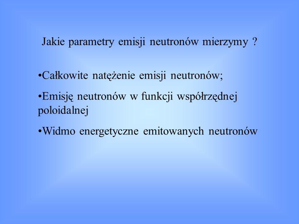 Jakie parametry emisji neutronów mierzymy
