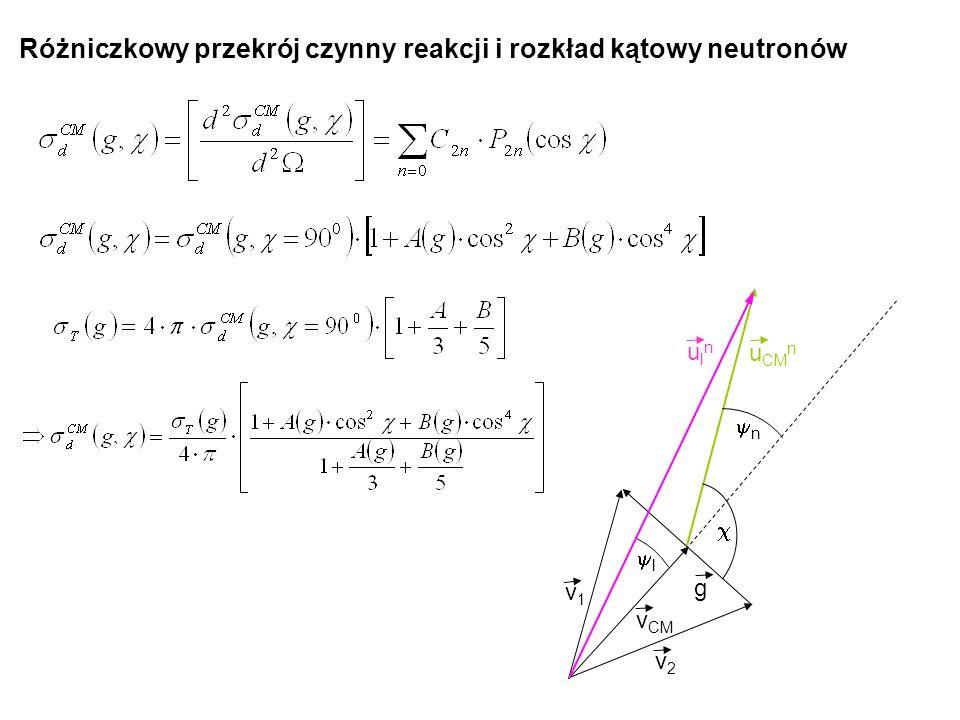 Różniczkowy przekrój czynny reakcji i rozkład kątowy neutronów